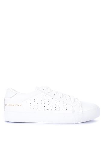 Appetite Shoes white Solid Toned Lace Up Sneakers DF374SHA7386F6GS_1