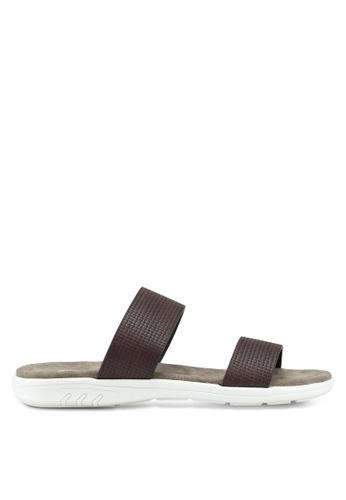 Bata brown Slide On Flip Flops BEB07SH25FBFECGS_1