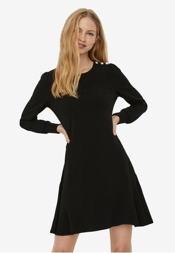 Vero Moda black Jasmine Long Sleeve Button Dress DAEA1AA56B9242GS_1