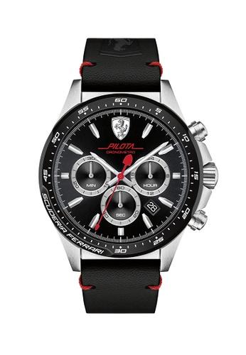 Scuderia Ferrari black Scuderia Ferrari Pilota Black Men's Watch (0830389) 38970AC8885E77GS_1