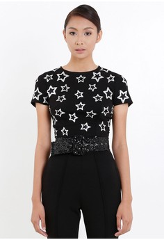 [PRE-ORDER] Star Embroidered Fitted Tee Shirt