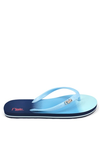 Ripples blue and multi Gradient Ombre Flip Flops RI425SH0FVHOSG_1