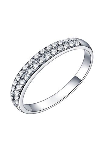 Elfi silver Elfi 925 Genuine Silver Engagement Ring P34. The Eternal Beauty EL186AC40DGHMY_1