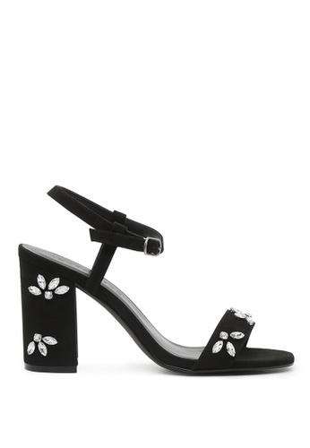 London Rag black London Rag Scarlett Women Black Embellished Ankle Strap Peep Toe Sandals SH1554 4A553SH6635E58GS_1