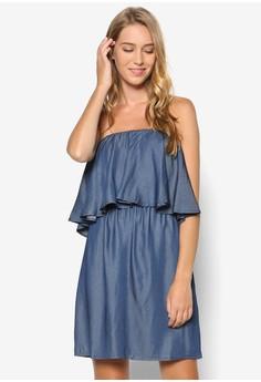 Double Layer Bardot Dress