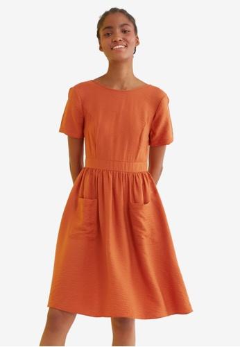 Trendyol orange Pocket Detail Dress 4238AAA10261BFGS_1