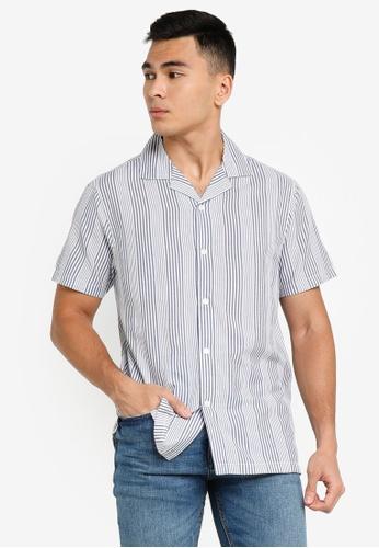 ABERCROMBIE & FITCH blue Resort Shirt 39687AA02F0D23GS_1