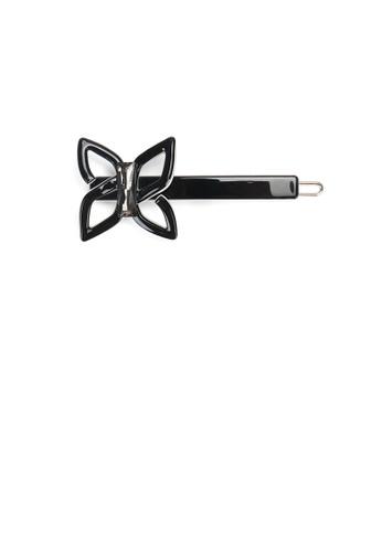 Glamorousky black Simple Temperament Black Ribbon Side Clip 25E63ACC0364C1GS_1