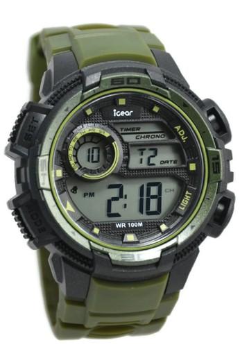 Igear black and green IGear Jam Tangan Pria Hijau Hitam Rubber Strap i68- 1998 IG933AC30DSZID_1