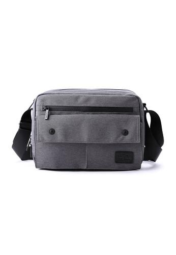 The Dude grey Skyline Messenger Bag TH373AC72NUHHK_1