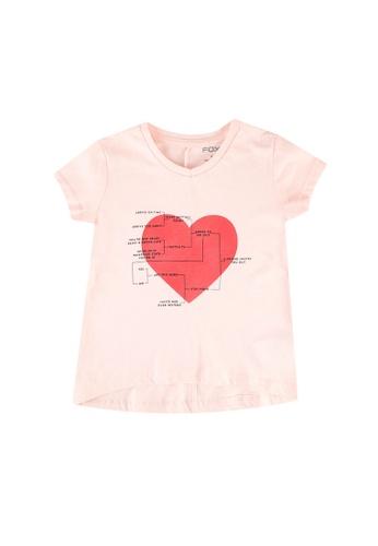 FOX Kids & Baby pink Girls Printed Tee 0EA64KAE5C0233GS_1