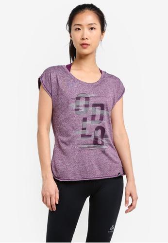 Odlo purple Helle Short Sleeve T-Shirt OD608AA0S13LMY_1