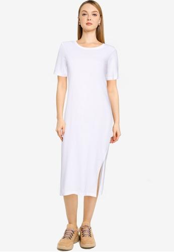 Brave Soul white Maxi T-Shirt Dress AA105AAC77770EGS_1