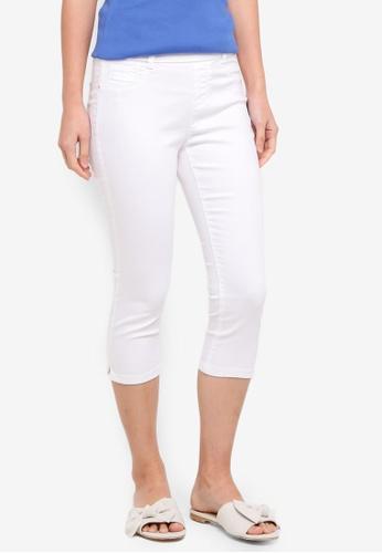 Dorothy Perkins white Petite White Eden Crop Jeans BCDEDAAFF05E50GS_1