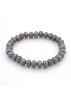 Crystal Glass Abacus Beads - Gray