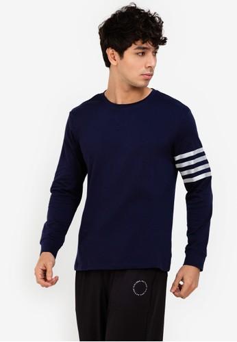 ZALORA ACTIVE navy Reflective Stripe Detail Sweatshirt 79828AA025B15AGS_1