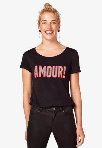 ESPRIT black Short Sleeve T-Shirt D0762AA349A905GS_1