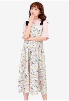 Floral Pinafore Dress