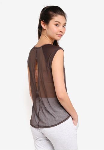 Cotton On Body gold Split Back T-Shirt 05E5BAAEB92D11GS_1