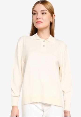 Mango beige Mango Knit Cotton Sweater 34913AADBA1C4FGS_1
