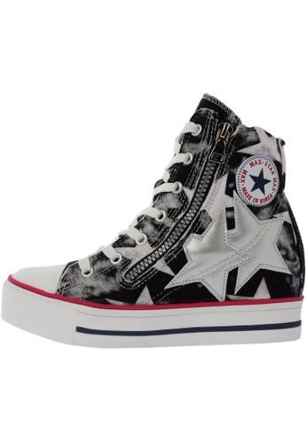Maxstar C2 30 7 Holes Denim Single Line White Platform High Top Sneakers US Women Size MA168SH66DMFHK_1