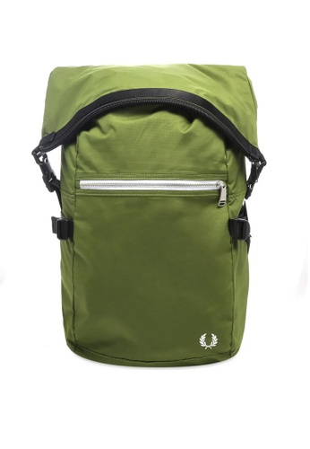 FRED PERRY L6220 - ROLL TOP BACK PACK - (Olive 1964) 2422BAC617631AGS_1