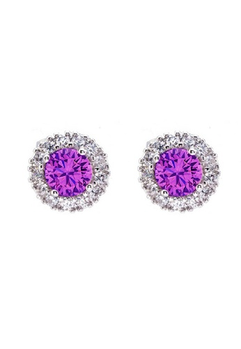 CELOVIS Purple Stud Earrings (2.2 ct) CE446AC94BSRMY_1