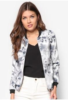 Love Lightweight Printed Bomber Jacket