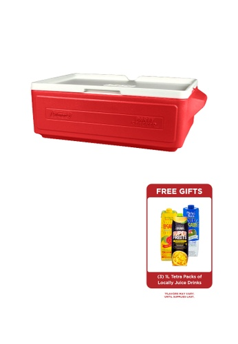 Coleman red 24 Can Portable Party Stacker Cooler 20FE2HL4062934GS_1