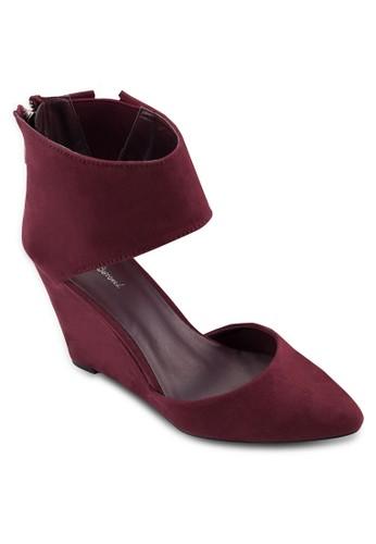 Ankle Wrap Suede Wzalora 男鞋 評價edge Heels, 女鞋, 厚底楔形鞋