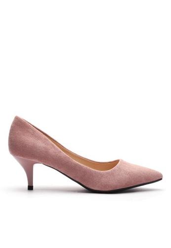 Twenty Eight Shoes 5CM尖頭絨面高踭鞋 292-11 DF26BSH6E62DEDGS_1