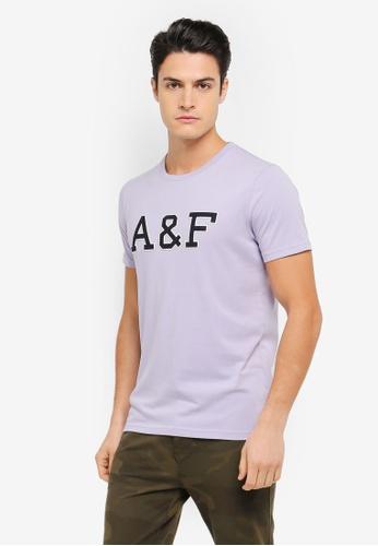Abercrombie & Fitch blue Brand Logo T-Shirt AB423AA0SZO9MY_1