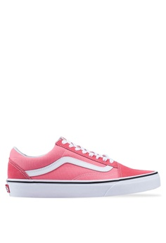 3299ad357500 VANS white and pink Old Skool Sneakers 87FCESHF031DE3GS 1