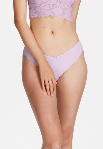 6IXTY8IGHT purple SITTI SOLID, All-over Lace Cheeky Panty PT10281 695FEUSB3C6002GS_1