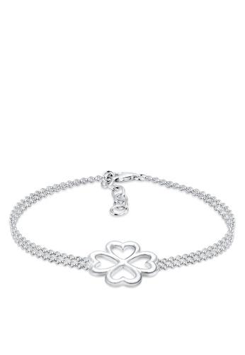Elli Germany silver Elli Germany Bracelet 925 Sterling Silver Clover Leaf EL474AC72OKHMY_1