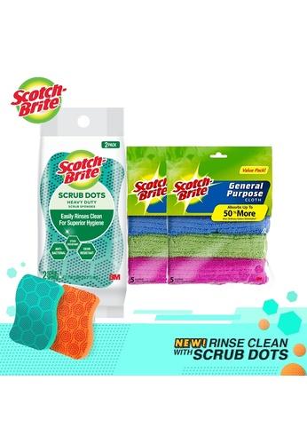 Scotch-Brite Scotch-Brite General Purpose Cloth (bundle of 2) + Scrub Dots Heavy duty 2pcs 1B58EHL2658D9BGS_1