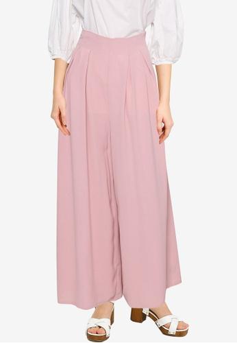Nichii 粉紅色 Wide Legs Pants 147F2AA1F0D94EGS_1