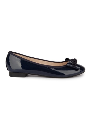 MAUD FRIZON navy Patent Pu With Grosgrain Bow Ballerina 3B89DSHC5CE461GS_1