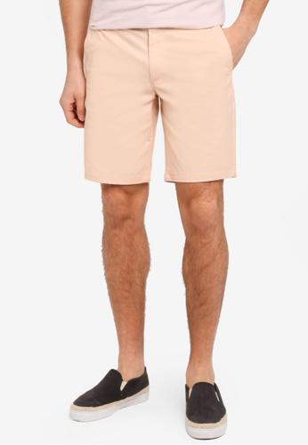Burton Menswear London 粉紅色 簡約休閒短褲 BU964AA0T1I9MY_1