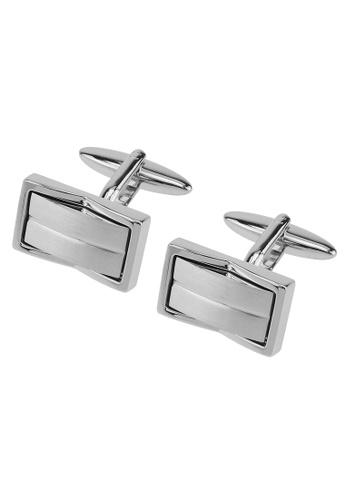 CUFF IT silver Brush Silver Inlaid Metal Cufflinks CU047AC2VGL3HK_1