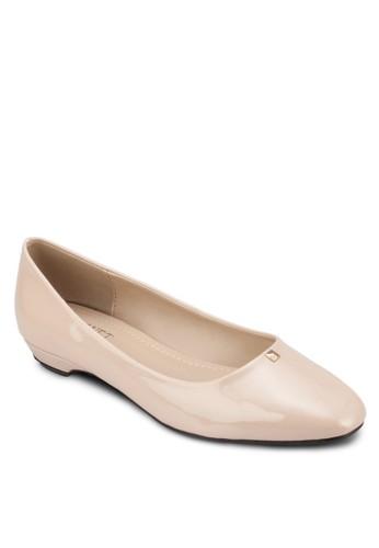 Jane 漆面方頭平底鞋, zalora 台灣女鞋, 芭蕾平底鞋