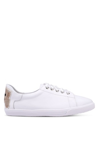 prettyFIT white Puppy Embroidered Sneakers ED071SH242B661GS_1