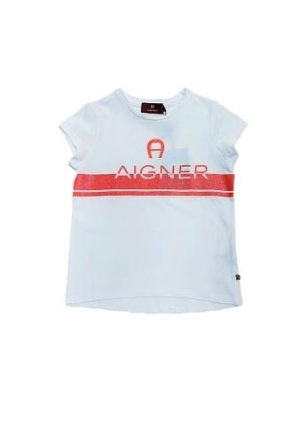 AIGNER KIDS white AIGNER TEEN GIRLS LOGO T-SHIRT CF51CKA7E5D171GS_1