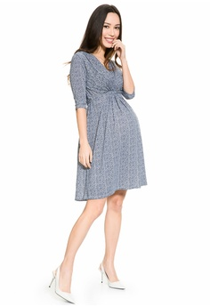0dcd019e813aa Mayarya Print Tie Waist Maternity and Nursing Dress S$ 75.00. Sizes S M
