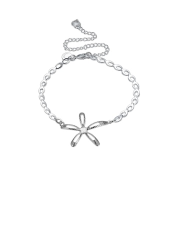 Glamorousky silver Simple Fashion Hollow Flower Anklet CBB57AC90CF867GS_1