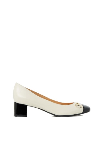 Nina Armando black and beige Kristin Leather Low Heel NI342SH0FV9ASG_1