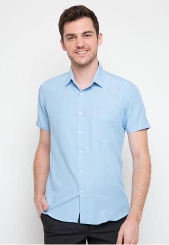 RICCIMAN blue Ricciman Slim Fit Lengan Pendek Blue D3124AA9AE3357GS_1