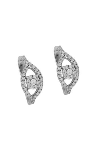 TOMEI white TOMEI Earrings of Foliage in Effulgence, Diamond White Gold 375 (E1304) ACE98AC2736003GS_1