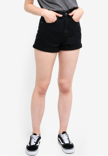 Factorie black Mom Shorts E7CC6AA5697E61GS_1