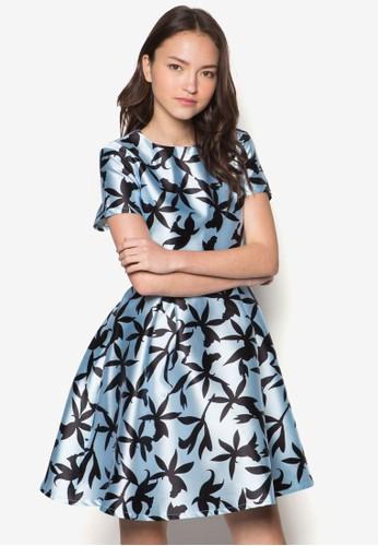 Clarizalora 順豐ssa 花卉寬擺連身裙, 服飾, 洋裝